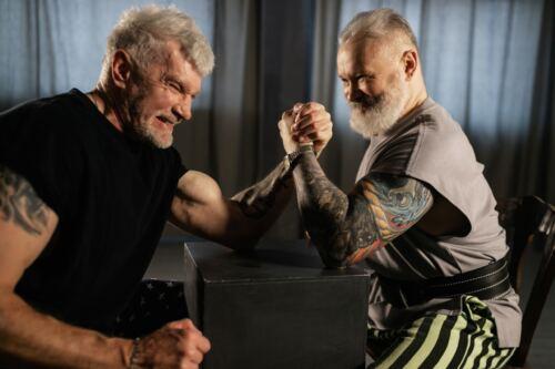 Best testosterone booster for men over 50, two older men arm wrestling