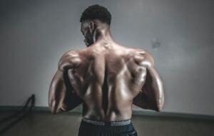 TestoGen review, man flexing his back muscles