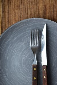 Intermittent fasting for men, empty plate