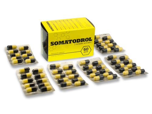 Somatodrol review, box and lots of Somatodrol blister packs