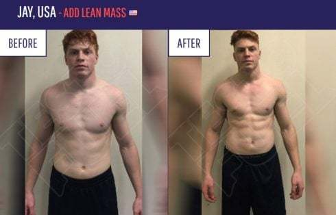TestoFuel results, before and after comparison of Jay