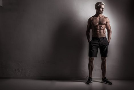 When is the best time to take a testosterone booster, a muscular man